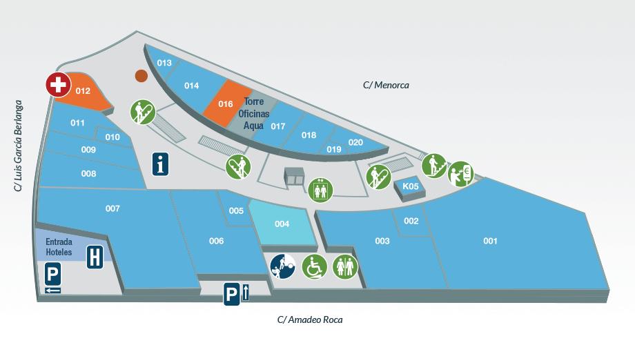 Planta calle | Centro Comercial Aqua Multiespacio