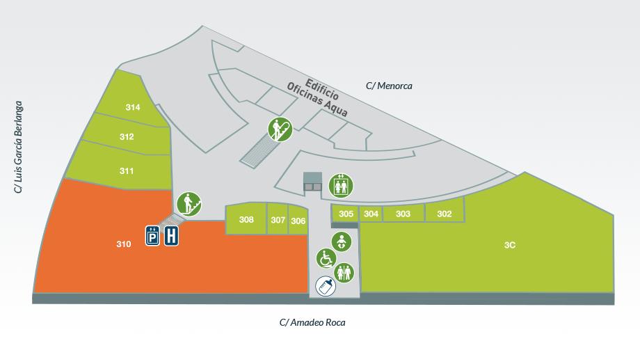 Planta 3 | Centro Comercial Aqua Multiespacio