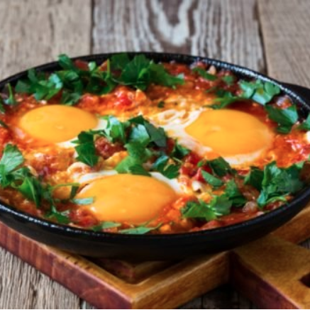 cazuela de verduras y huevo