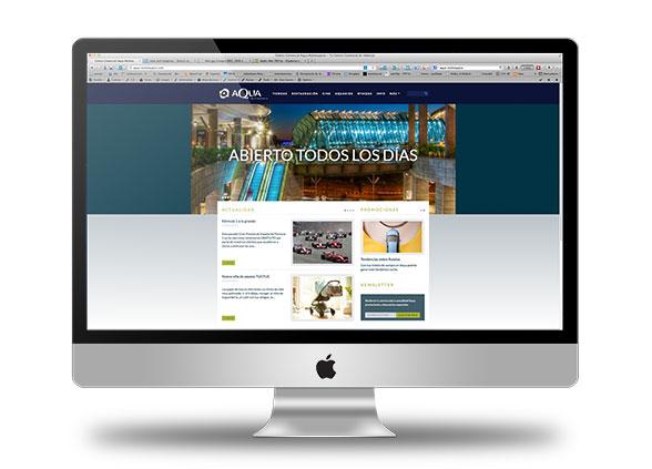 Diseño nueva web de Aqua por desmarcat